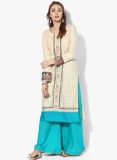 Buy W Beige Printed Kurta from Jabong