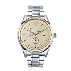 Cafuer Chronograph Look with Date Calendar Analogue White Dial Mens Watch - W1022SWXXZ for Rs. 799