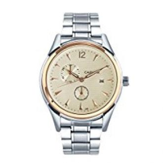 Cafuer Chronograph Look with Date Calendar Analogue White Dial Mens Watch - W1022SWXXZ for Rs. 999