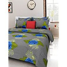 Buy Homefab India 100% Cotton Double Bed Sheet with two Pillow Covers from Amazon