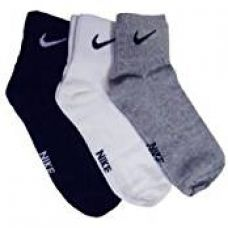 Buy Nike Multicolour Cotton Socks - Pack of 3 from Amazon