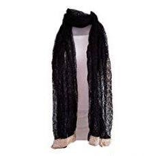 Skhoza net dupatta(black_fabdup2) for Rs. 240