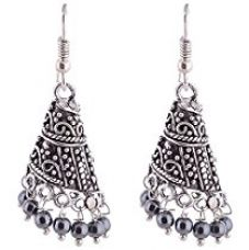Ganapathy Gems black Oxidised Silver Jhumki Earring For Women for Rs. 249