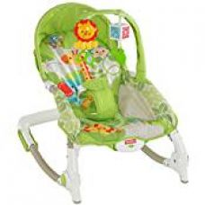Buy Fisher-Price Newborn To Toddler Rocker Worldwide + Diaper Bag from Amazon