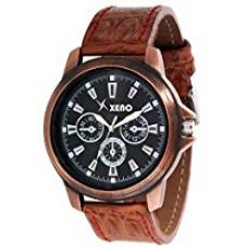 Xeno Analogue Black Dial Men Watch (ZD00078) for Rs. 349
