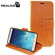 Coolpad Note 5 Cover, REALIKE™ {Imported} Premium Leather Wallet Flip Case For Coolpad Note 5 (Royal Series) (LIGHT BROWN) for Rs. 649