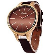 Eleganzza Analogue Brown Curved Dial Women's Watch - I020 for Rs. 499