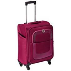 Buy American Tourister Sparta Polyester 55 cms Purple Suitcase (12W (0) 50 001) from Amazon