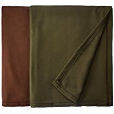 Buy Christy's Collection 2 Piece Polar Fleece Double AC Blanket Set - Brown from Amazon