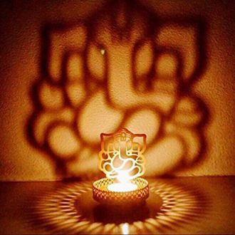 Buy Jaz Deals Shadow Ganesh Ji Tea Light Holder from Paytm