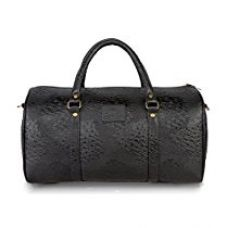 The Clownfish Tcfdb20Lobl Ostrich Series Unisex 18 Inch Travel Duffle Bags (Black) for Rs. 1,229