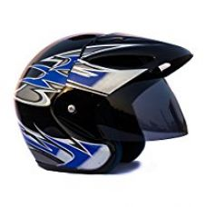 Buy Autofy O2 Full Close Helmet  (Black and Blue, M) from Amazon
