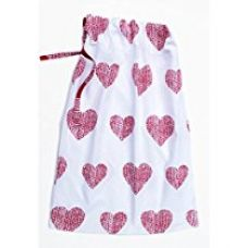 Blue Alcove Cotton Santa Sack Winter Heart Gift Bag (Red) for Rs. 99