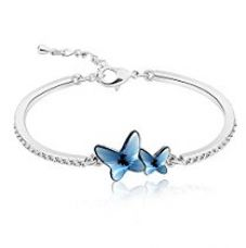 Yellow Chimes Crystals from Swarovski Blue Butterfly Designer Bracelet for Women and Girls for Rs. 1,049