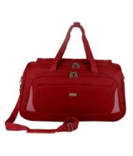 Buy Timus Red Solid Duffle Bag from SnapDeal