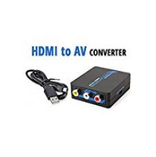 Storite (Video Converter Premium quality Metal Body) Mini HDMI to AV Composite RCA CVbS Video + Audio Converter with Super build Quality comes for Rs. 1,599