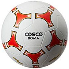 Cosco Roma Foot Ball, Size 5 (White/Red) for Rs. 487
