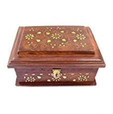 ITOS365 Handicrafted Wooden Jewellery Box for Women Gift, 7.4 inches for Rs. 490