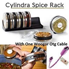 Buy Woogor Spice Rack,Spice Box, Round Cylindrical Shape For Every Kitchen ( Random Color) With One