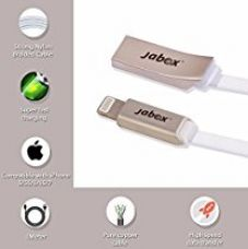 Buy Jabox Premium Apple iPhone High Quality Flat Data / charging / USB Cable (Pure copper, Zinc Metal Header, High Quality TPE, 1M long, White Color) from Amazon