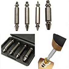 4in1 Screw Extractor Drill Bits Guide Set Broken Damaged Bolt Remover Easy Out for Rs. 590