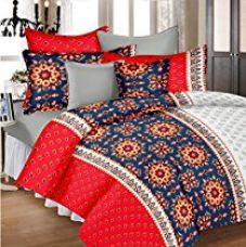 Ahmedabad Cotton Aspire 180 TC Sateen Double Bedsheet with 2 Pillow Covers - Multicolour for Rs. 599