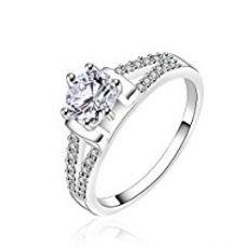 Buy Yellow Chimes Dove Beauty Dazzling Austrian Crystal Sterling Silver Ring For Girls and Women from Amazon