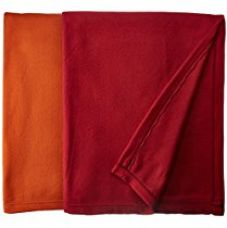 Christy's Collection 2 Piece Polar Fleece Double AC Blanket Set - Orange for Rs. 538