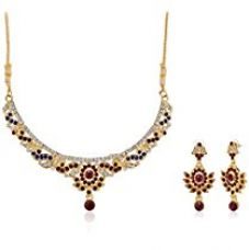 Fabby Fashion Collar Necklace for Women (Maroon)(79277) for Rs. 209