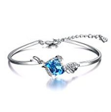 Yellow Chimes Crystals from Swarovski Angel Guardian Blue Crystal Designer Bracelet for Women and Girls for Rs. 1,499