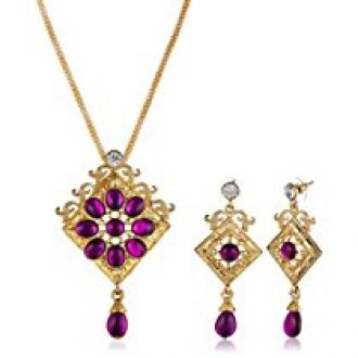 Buy Fabby Fashion Jewellery Set for Women (Purple)(94864) from Amazon