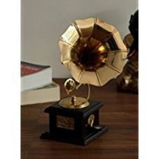 ECraftIndia Antique Music Decorative Canon Brass Showpiece (10 cm x 10 cm x 23.75 cm, Red and Brown) for Rs. 294