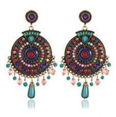 Buy YouBella Non Precious Metal Fashion Jewellery Bohemian Stylish Multi-Color Fancy Party Wear Earrings for Girls and Women from Amazon