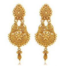 Buy Youbella Jewellery Gold Plated Dangle & Drop Earrings For Women from Amazon