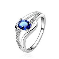 Buy Yellow Chimes Blue Rich Royal Austrian Crystal Sterling Silver Ring For Girls and Women from Amazon