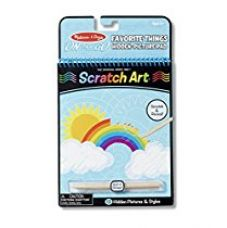 Melissa and Doug On the Go Scratch Art Hidden Picture Pad, Multi Color for Rs. 487