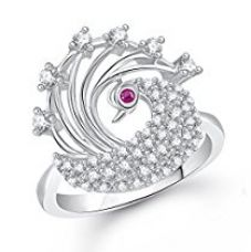 Buy Meenaz Silver Diamond Rings For Girls And Women In American Diamond CZ Ring Jewellery For Women -Fr239_10 from Amazon