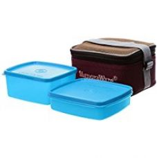 Signoraware Quick Carry Plastic Lunch Box with Bag, T Blue for Rs. 420