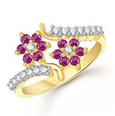 Meenaz Gold Ruby 24K Ring For Women for Rs. 299