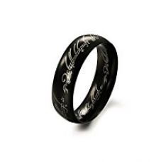 Yellow Chimes Lord of the Rings Black 100% Stainless Steel Ring For Boys And Men for Rs. 299