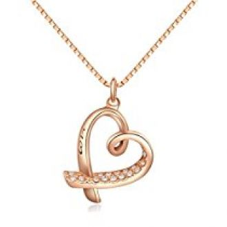 Buy Kaizer Majestic Heart Gold Plated Pendent from Amazon