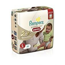 Pampers Premium Care Large Size Diaper Pants (20 Count) for Rs. 399