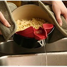 Silcone Strainer and Pouring spout for Hot & Cold Liquid semi liquid batter oil , chocolate , water,dosa batter, idli batter, etc - MosQuick for Rs. 240