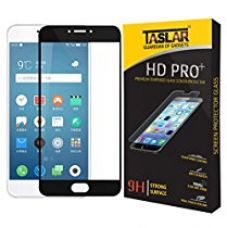 Buy Taslar Premium Arc Edge Full Body Tempered Glass Screen Scratch Guard Protector for Meizu M3 Note (Black) from Amazon