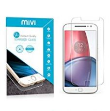 Buy Moto G4 Plus Tempered Glass Mivi Military Grade Anti-Scratch (0.3mm, Clear) from Amazon
