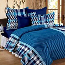 Flat 45% off on Story@Home Magic 152TC Cotton Double Bedsheet with 2 Pillow C...