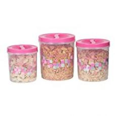 Princeware Twister Plastic Package Container Set, 3-Pieces, Pink for Rs. 444
