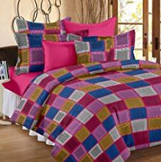 Story@Home 144 TC Cotton Double Bedsheet with 2 Pillow Covers - Abstract, Pink for Rs. 549