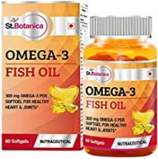 Buy Stbotanica Omega 3 Fish Oil 1000Mg (180Epa, 120 Dha) - 60 Softgels from Amazon