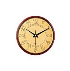 ECraftIndia Decorative Retro Plastic and Glass Wall Clock (27.5 cm x 2.5 cm x 27.5 cm, Golden and Red) for Rs. 324